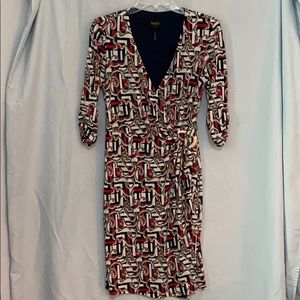 Laundry by Shelli Segal Wrap Dress Size Small